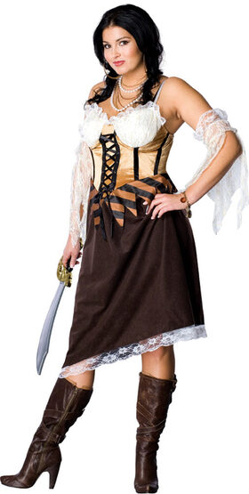 Maiden of the Seas Pirate Plus Size Costume