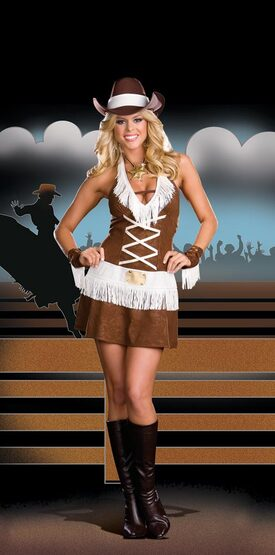 Howdy Partner Sexy Cowgirl Costume
