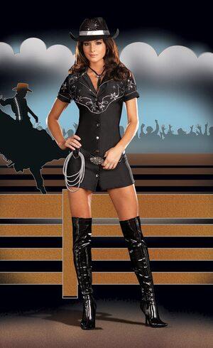 Sexy Rhinestone Cowgirl Costume