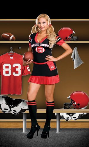 Womens Touch Down Sexy Football Plus Size Costume