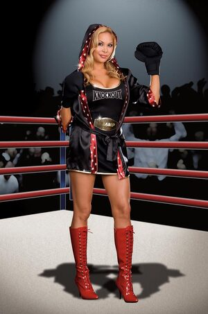Total Knock Out Sexy Plus Size Boxer Costume