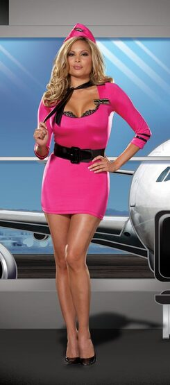 Mile High Club Sexy Plus Size Costume