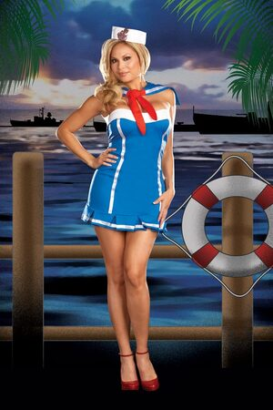 Stormy Sky Sexy Plus Size Sailor Costume