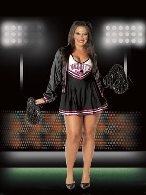 Varsity Cheerleader Sexy Plus Size Costume