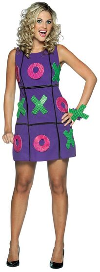 Womens Peel n Stick Tic Tac Toe Sexy Costume