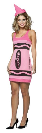 Womens Sexy Tickle Me Pink Crayola Crayon Costume