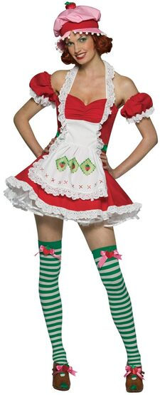 Womens Sexy Strawberry Shortcake Costume