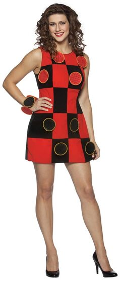 Sexy Playable Checkers Game Costume