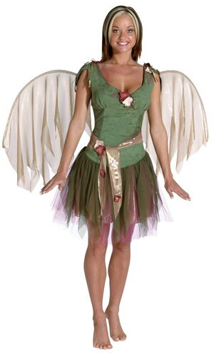 Womens Sexy Green Woodland Fairy Costume