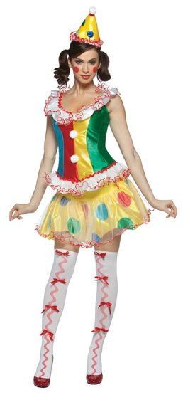 Womens Sexy Ruffles the Party Clown Costume