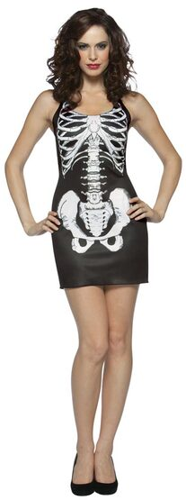 Womens Sexy Bones Skeleton Costume