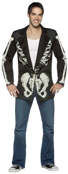 Mens Blazer Bones Skeleton Costume