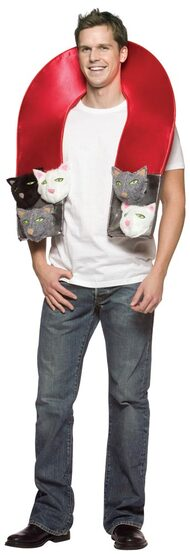 Mens Pussy Magnet Funny Adult Costume