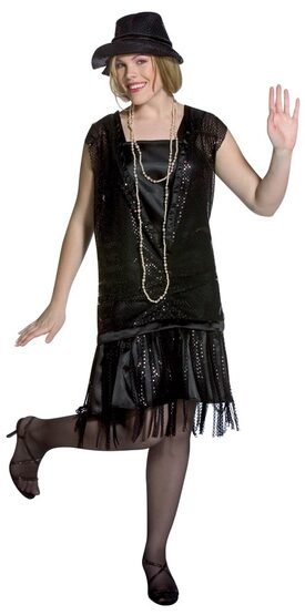 1920s Gatsby Girl Plus Size Flapper Dress Costume