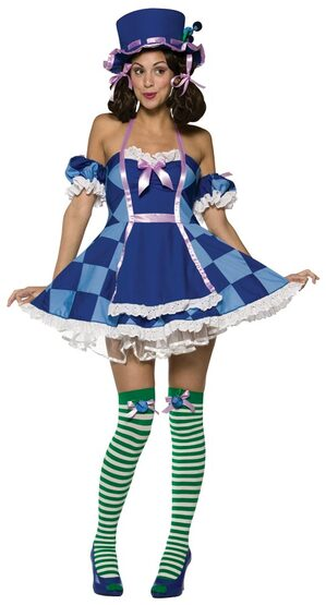 Womens Sexy Blueberry Hatter Costume
