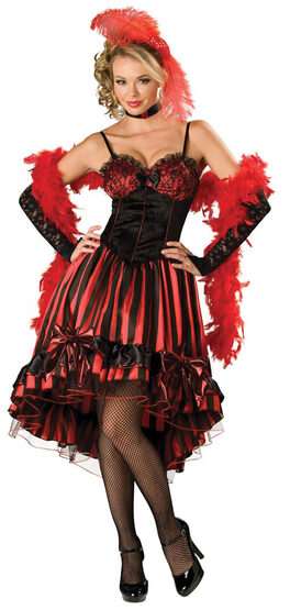 Elite Adult Can Can Cutie Saloon Girl Costume