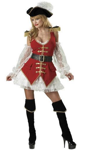Womens Sexy Pirate Treasure Costume