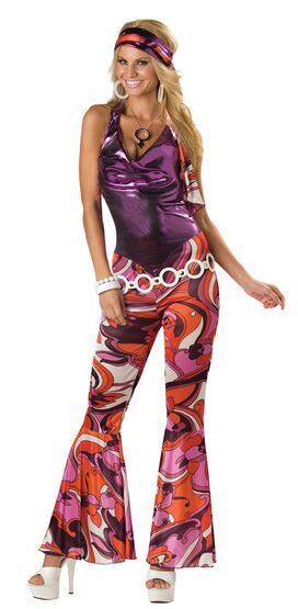 Womens Adult Dancing Queen 70s Costume