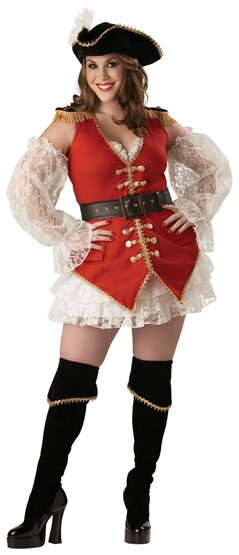 Sexy Plus Size Pirate Treasure Costume