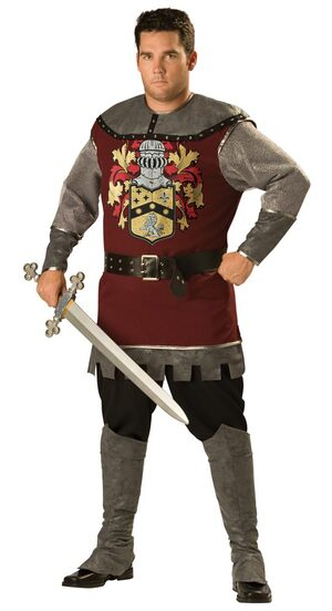 Plus Size Noble Medieval Knight Costume