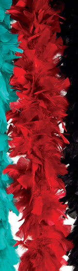 Red Deluxe Feather Turkey Boa