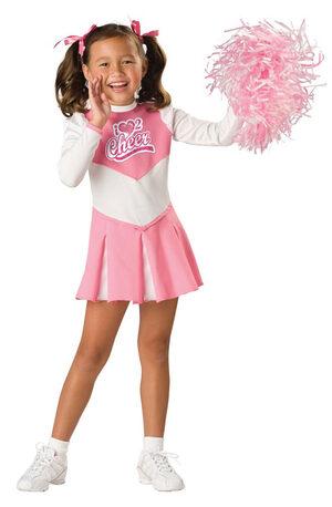 Kids Pink Cheerleader Costume
