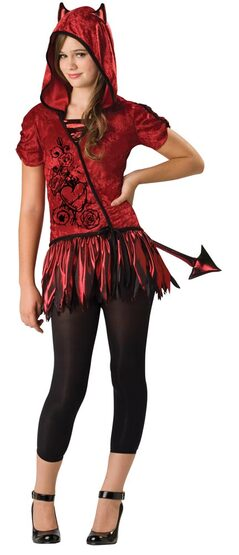 Girls Devil in da Hood Tween Costume