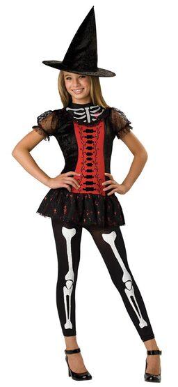 Tween Lucky Witchbone Kids Skeleton Costume