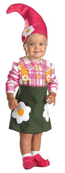 Girls Flower Gnome Baby Costume