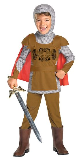 Kids Fairytale Medieval Knight Toddler Costume
