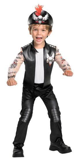 Kids Biker Bad Boy Toddler Costume