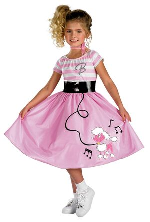 Girls Barbie Sock Hop 50s Costume