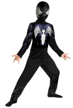 Kids Classic Black Spiderman Costume