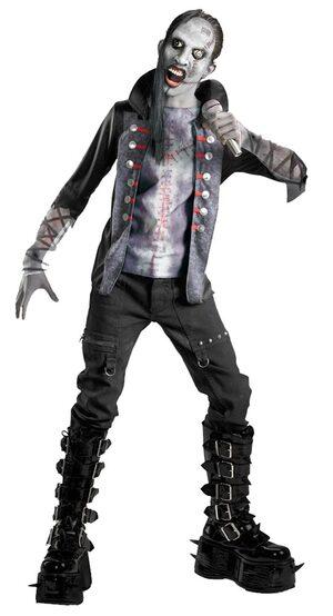 Boys Shock Rock Zombie Rockstar Costume