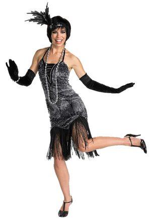1920 Womens Flirty Flapper Girl Costume