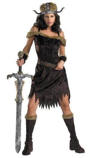 Womens Nordic Babe Adult Viking Costume