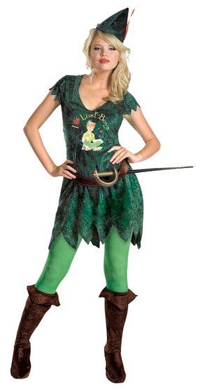 Womens Sassy Adult Peter Pan Costume