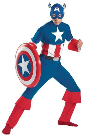 Mens Classic Adult Captain America Costume