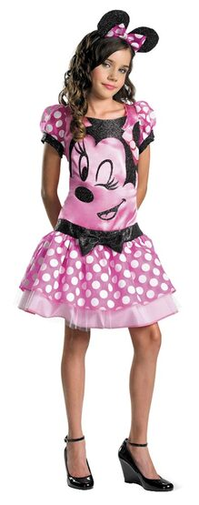 Kids Pink Clubhouse Minnie Mouse Costume