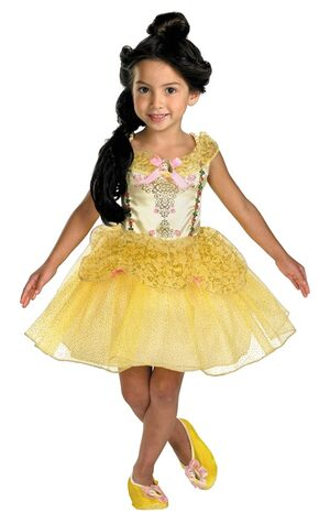Girls Disney Belle Ballerina Toddler Costume