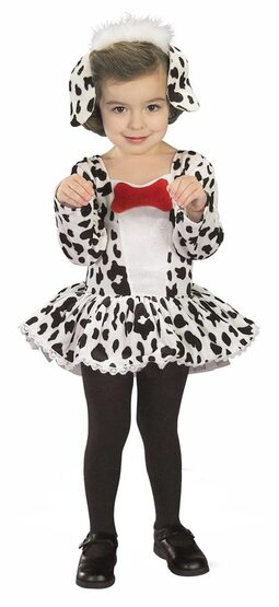 Girls Cute Dalmation Dog Toddler Costume