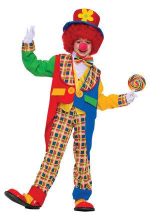 Boys Clown Around Town Kids Costume