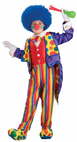 Boys Classy Clown Kids Costume