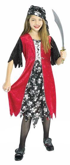 Kids Sassy Pirate Girl Costume