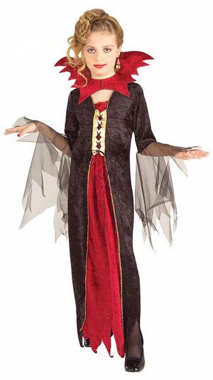 Girls Vampire Princess Kids Costume