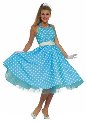 Womens Summer Daze Adult 50s Costume