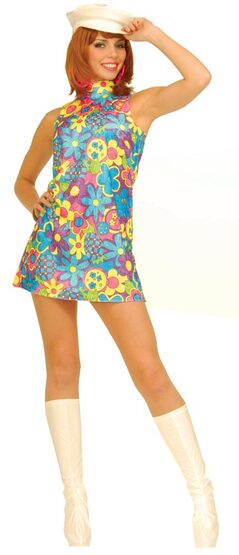 Womens Retro Go Go Dancer Adult 60s Costume
