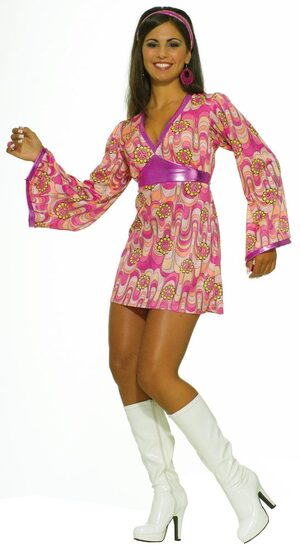 Womens Flower Power Adult 60s Costume