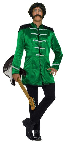 Mens Green British Explosion Adult 60s Costume