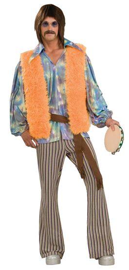Mens Hippie Singer Adult 60s Costume